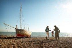 Familienzeit an der Küste von Kent