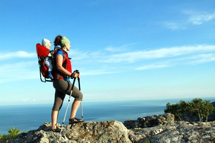 Bergwandern mit Baby im Urlaub