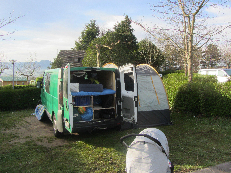 Campingstart in San Sebastian bei 7 Grad © jessika