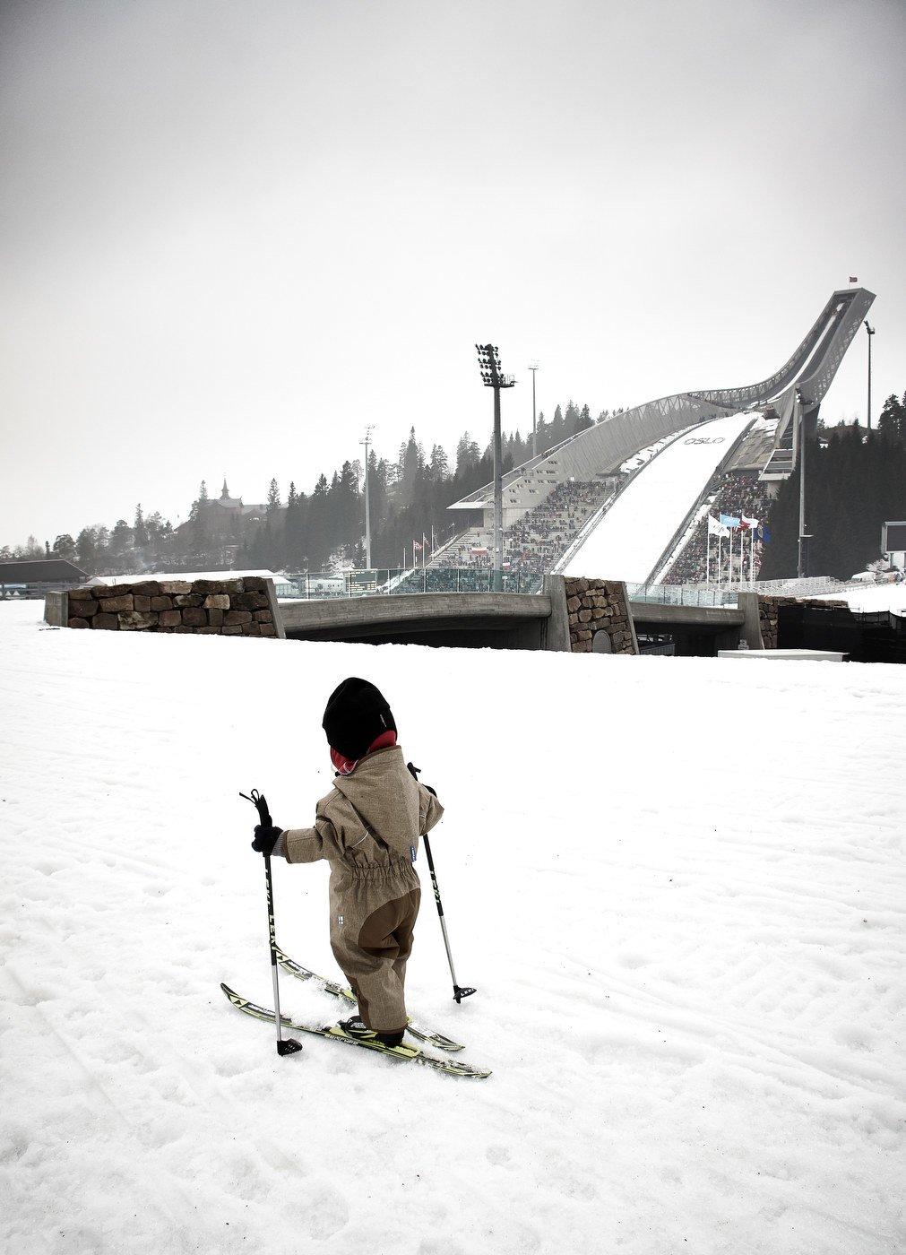 Paula beim Langlaufen am Holmenkollen © actuallylove