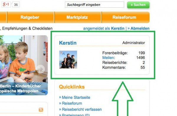 Hier findet ihr euren aktuellen Prämienmeilenstand © KidsAway.de