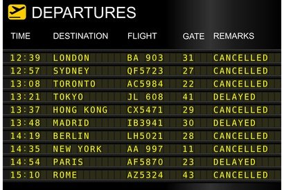 Ärger zum Urlaubsbeginn: Flug annulliert © sablin - Fotolia.com