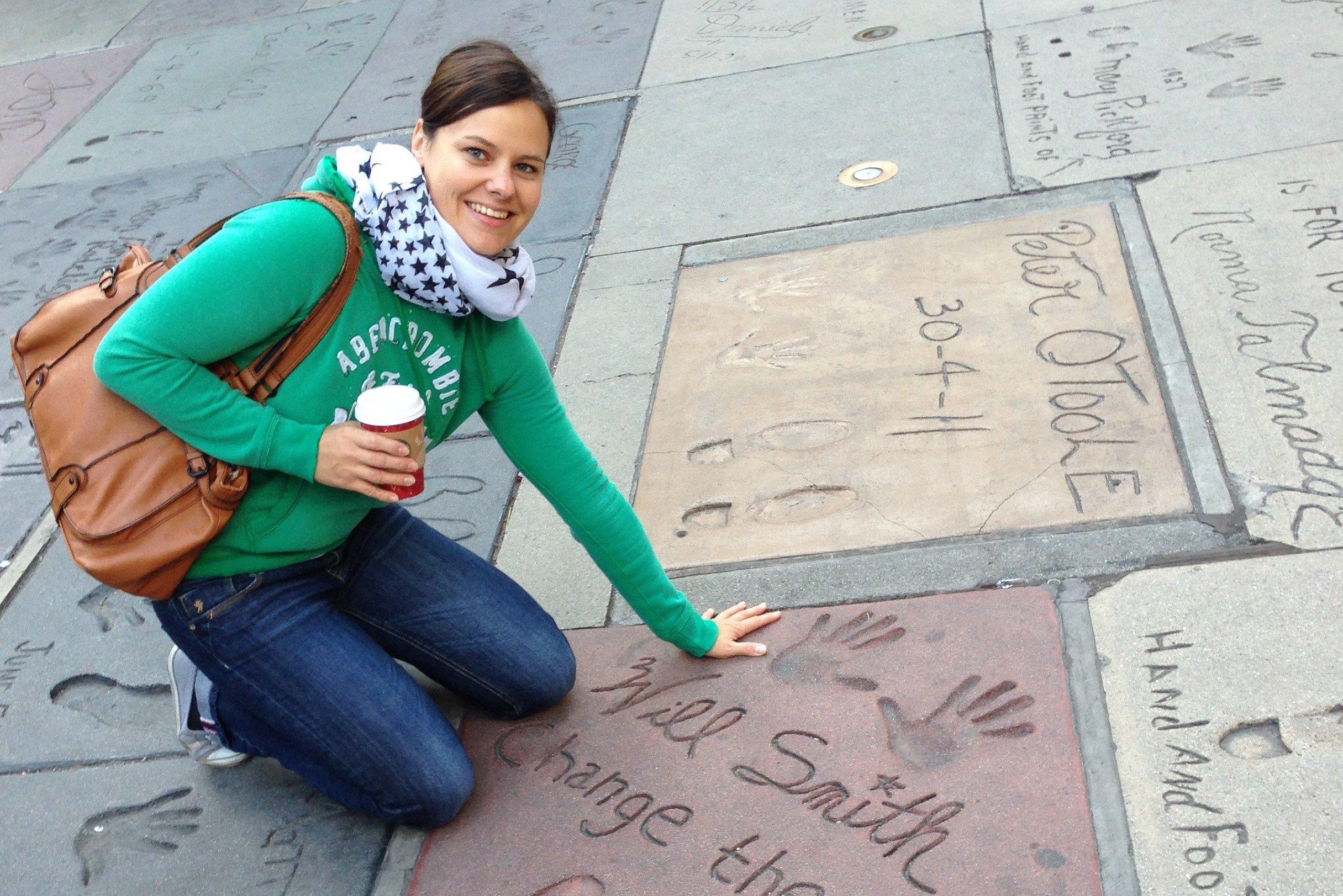 Dajana vor dem Kodak Theatre in Hollywood © Dajana Niepraschk