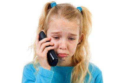 Schluchzt euer Kind in den Hörer, heißt es: Ruhe bewahren © Sandra van der Steen - Fotolia.com