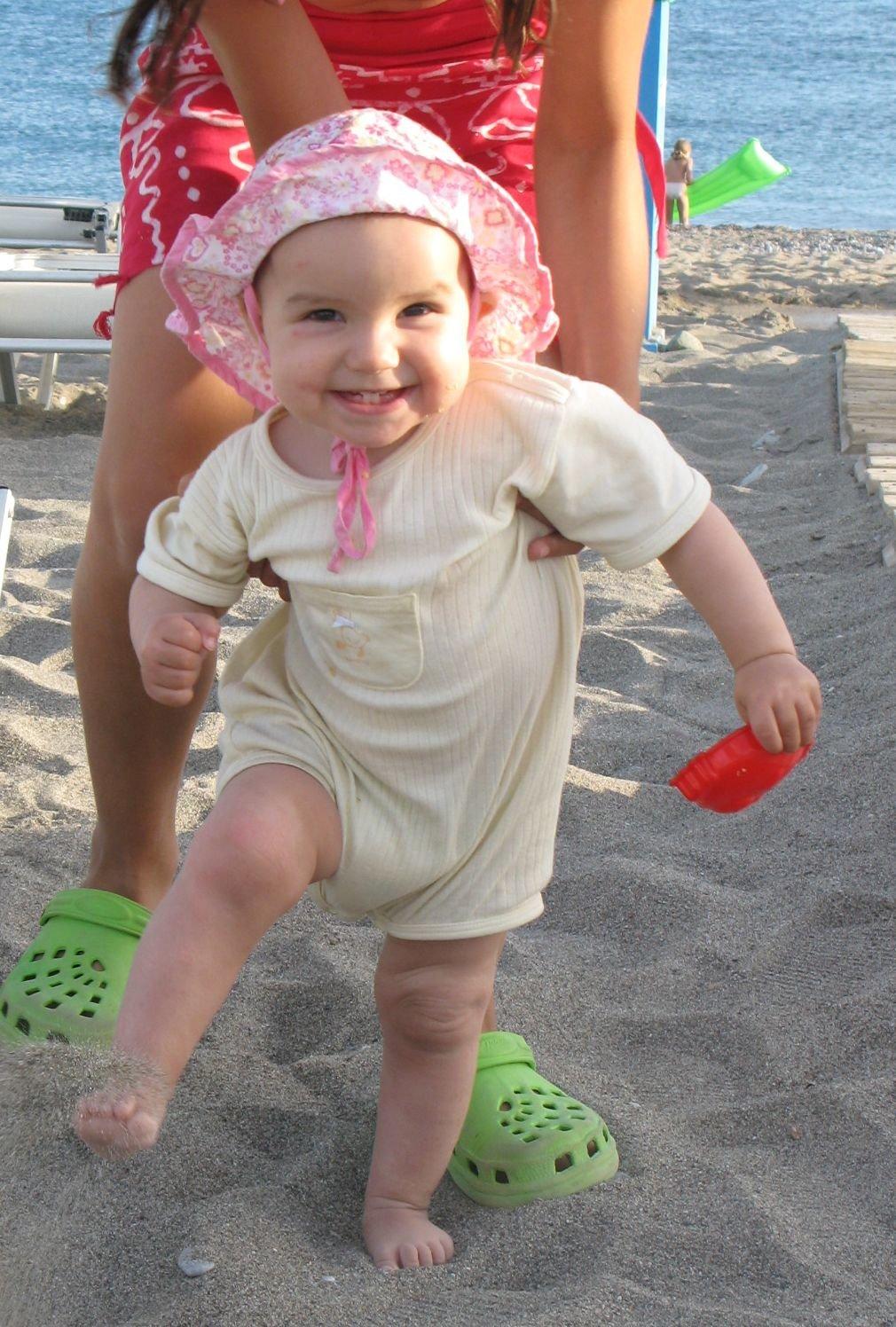 Erste Schritte am Strand © cosima