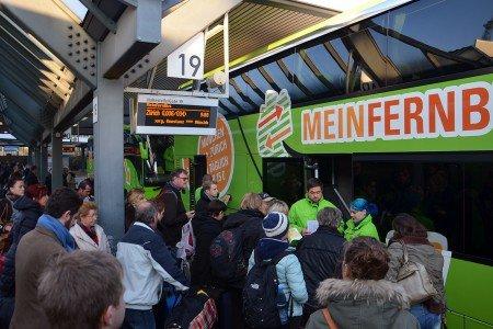 Wenn die Bahn streikt, haben Fernbusse Konjunktur © MeinFernbus