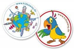 Die KidsAway-Kofferaufkleber verschönern euer Reisegepäck