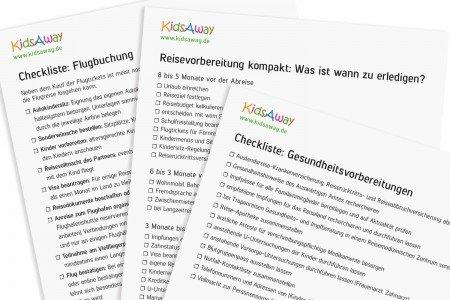 Für Familien: Checklisten für die perfekte Urlaubsplanung © KidsAway.de