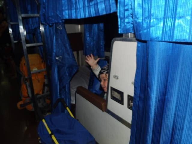 Hallo aus dem Schlafabteil! © Stephanie - www.freileben.net