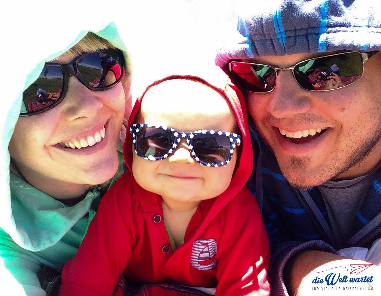 Die Welt wartet Elternzeitreisen