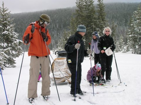 Familien-Langlauf-Tour mit Kinderpulka © Flickr/Matt Kern