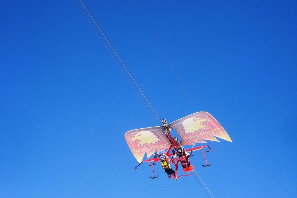 Hoch in der Luft mit dem Fisser Flieger © Jenny