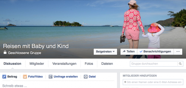 KidsAway.de-Reisegruppe bei Facebook