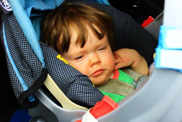 Schlafende Babys sind ideale Roadtrip-Gefährten © Flickr/Bradley Gordon