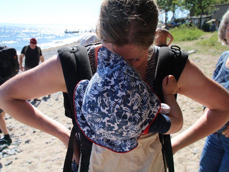Zeit zu zweit bei einer der ersten Reisen mit Baby nach Rügen © mamawelten