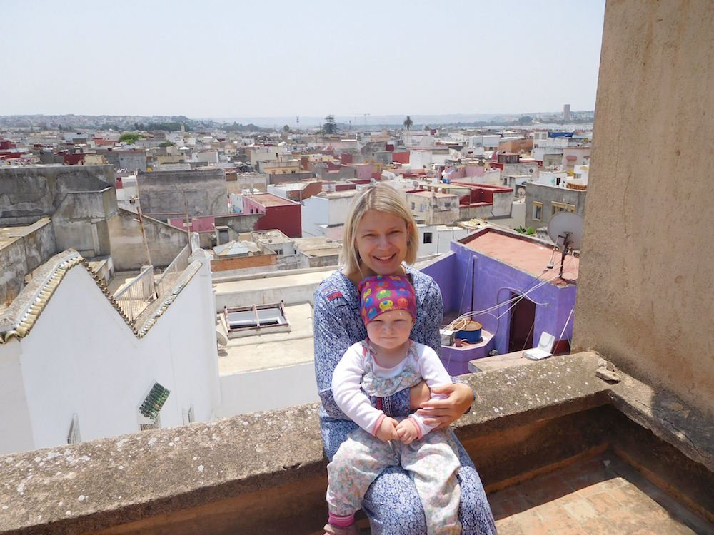 Auf der Dachterrasse ist nicht nur der Ausblick schön © Sabrina Müller-Krohe
