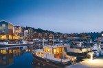 Abendstimmung im Hafendorf © Precise Resort Marina Wolfsbruch