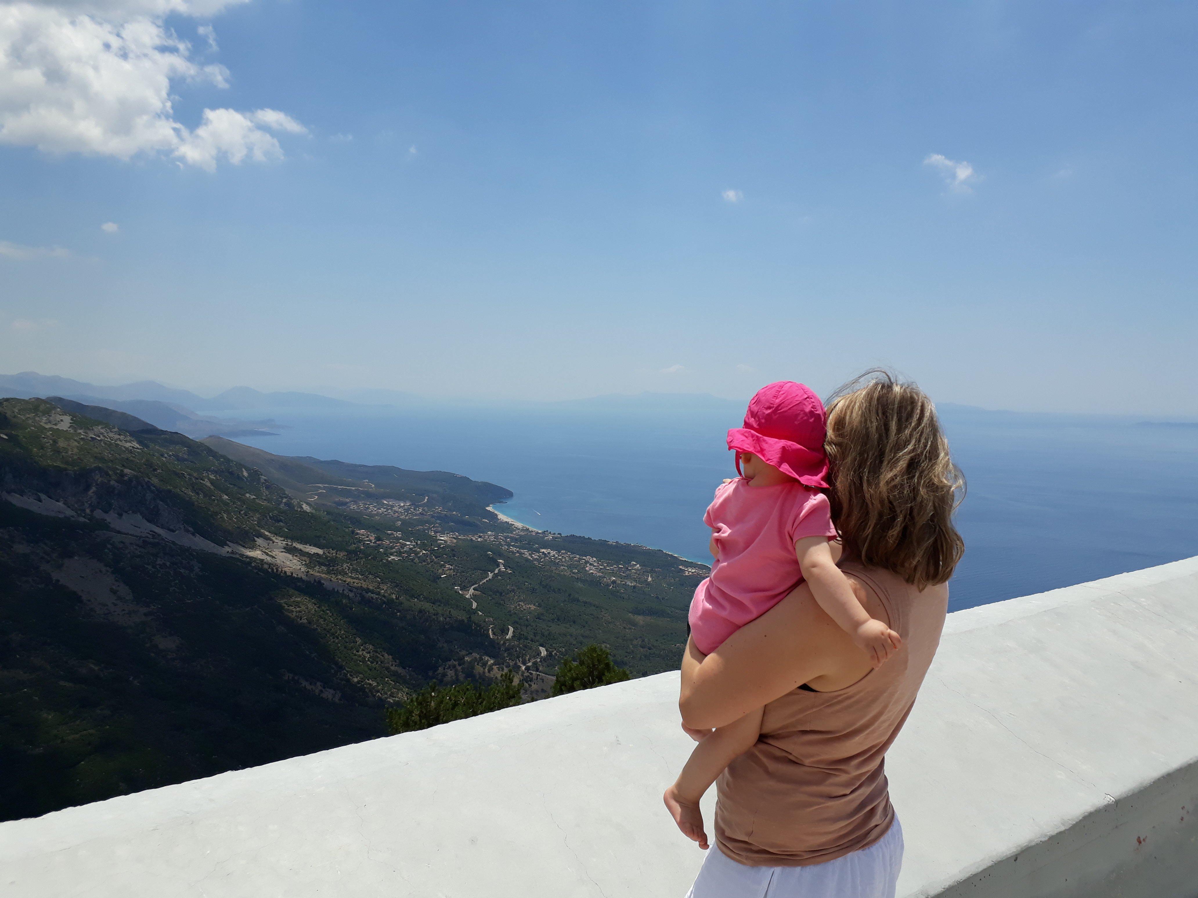 Auf dem Llogara Pass in Albanien