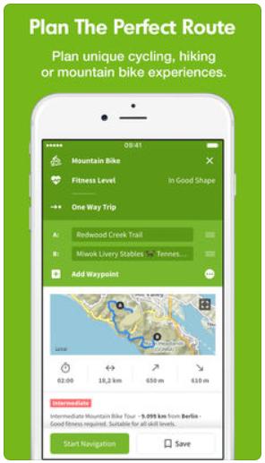 Karten App Komoot