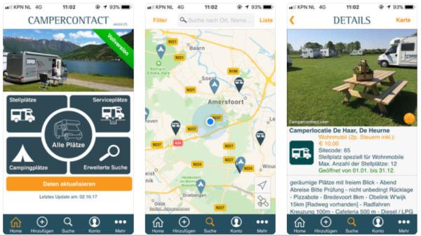 Campercontact Stellplatz App Camping App