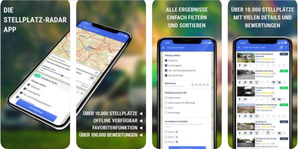 Stellplatz-Radar Camping App Stellplatz App