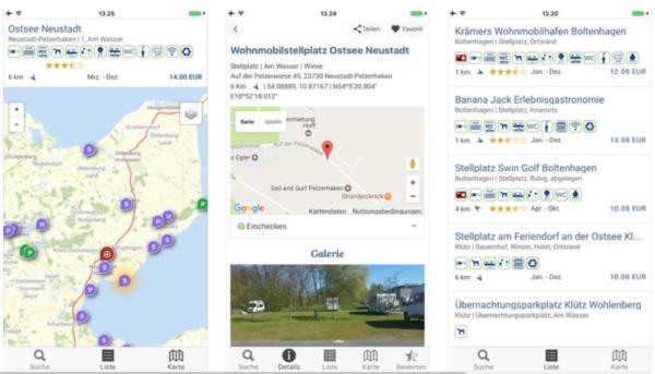 Womo Stellplatz App