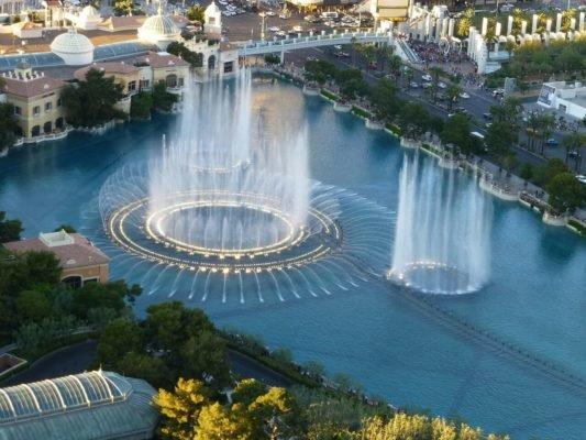 Las Vegas mit Kindern - Bellagio Fontäne
