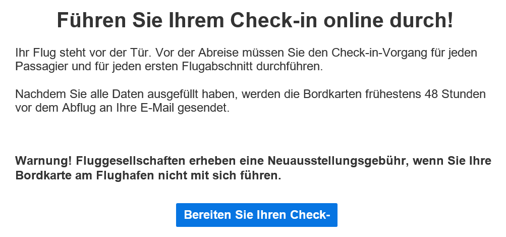 Erfahrungen Laudamotion - Check-in