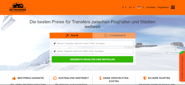 Flughafentransfer - Gettransfer