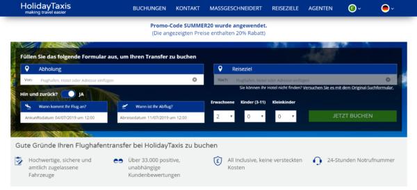 Flughafentransfer - Holidaytaxis