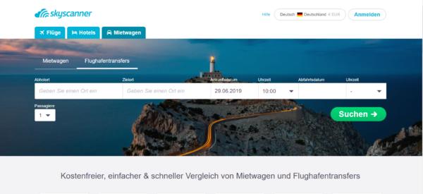 Flughafentransfer - Skyscanner