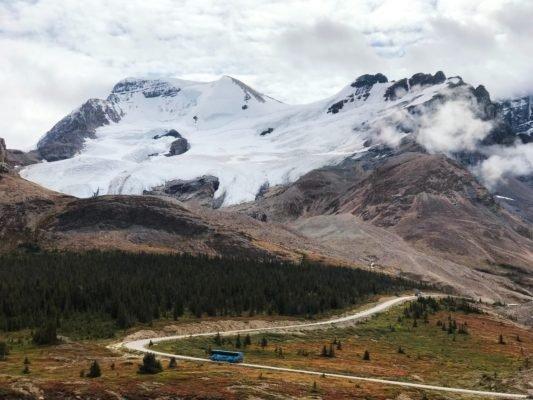 Athabasca Gletscher im Jasper Nationalpark Kanada